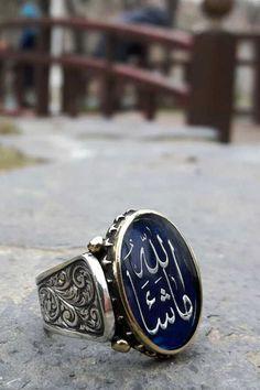 Hat Sanatlı Hattat Yüzüğü Arapça İsme Özel Erkek Yüzük