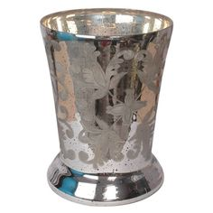 We love this mercury vase for a holiday arrangement. | $178