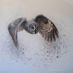 """""""Great grey owl"""" by Ewoud De Groot"""