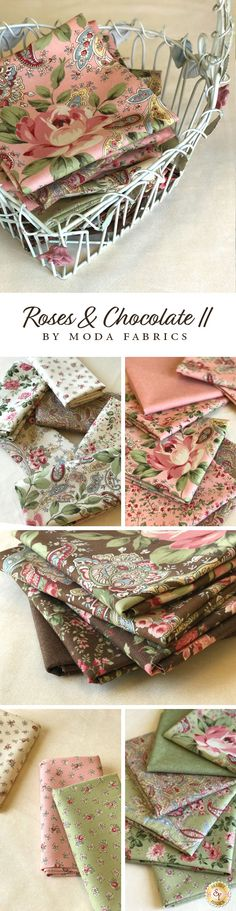 Roses & Chocolate II is a romantic collection by Moda Fabrics available at Shabby Fabrics!