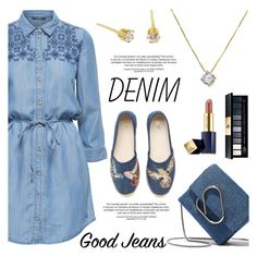 """Denim Style"" by donna-italiana ❤ liked on Polyvore featuring 3.1 Phillip Lim, RED Valentino, Yves Saint Laurent, Estée Lauder, contestentry, alldenim, donnaitaliana and donnaitalianajewelry"