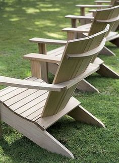 These Adirondack chair plans will help you build an outdoor furniture set that becomes the centerpiece of your backyard . It's a good thing that so many plastic patio chairs are designed to stack, and the aluminum ones fold up flat. Plastic Patio Chairs, Deck Chairs, Adirondack Chairs, Lounge Chairs, Room Chairs, Wooden Garden Chairs, Adirondack Chair Plans Free, Folding Chairs, Dining Chairs
