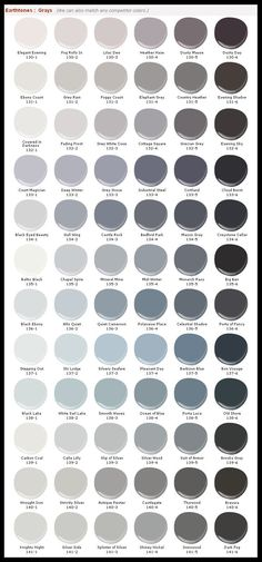 Grays from Mystic Paint (http://www.mythicpaint.com/colorPaletteDetails.aspx?ID=27&flag=#14)