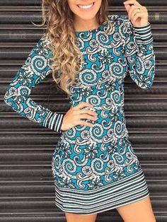LOVE this long-sleeve print dress!