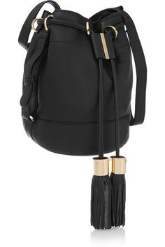 See by Chloé | Vicki medium textured-leather bucket bag