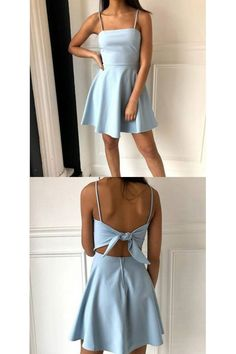 Prom Dress Tight, A-Line Spaghetti Straps Above-Knee Light Blue Satin Homecoming Dress. - Prom Dress Tight, A-Line Spaghetti Straps Above-Knee Light Blue Satin Homecoming Dress with B, Source by - Light Blue Homecoming Dresses, Cute Prom Dresses, Pretty Dresses, Elegant Dresses, Wedding Dresses, Summer Dresses, Short Tight Homecoming Dresses, Cute Simple Dresses, Romantic Dresses