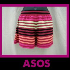 ASOS *Stripped Shorts * Add some color to your summer wardrobe with these cute & comfortable stripped shorts by ASOS. ASOS Shorts