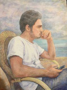 Ersin in suluboya portresi