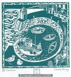 Harbour print by Sarah Young