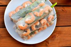Gỏi cuốn Vietnamese Pork and shrimp rolls with Hoisin dipping sauce  Courtesy Gastronomer