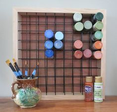 Paint Storage Rack Holds 81 2oz Craft Paint by GardenGateDesign, $49.00