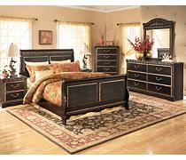 Coal Creek Sleigh Bedroom Set