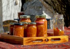 Orange marmelade, handmade of course.:)