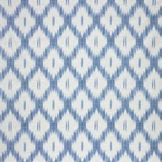 "Large Blue Ikat - Priced by the yard, 54"" wide Horizontal Repeat - 9"" Vertical Repeat - 13.5"" Fabric Content - 100% Cotton  ($30.00)"