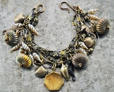 Ocean of Goodness Vintage Assemblage Charm Bracelet by CharmedMenagerie on Etsy