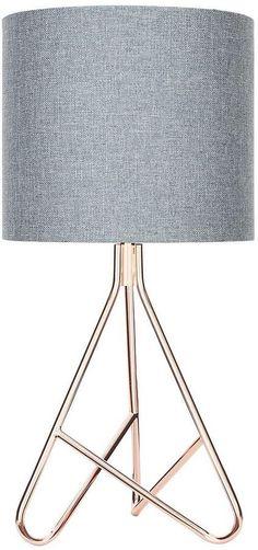 Caleb Copper Tripod Table Lamp