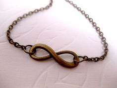 Always And Forever Infinity Necklace by FashionCrashJewelry, $14.99