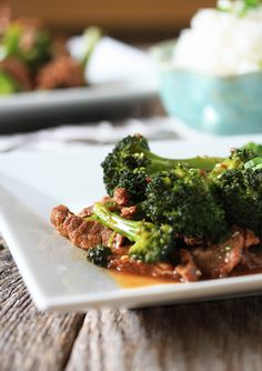 Broccoli Beef recipe.  I served this up with some jasmine rice and it was fabulous.