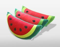 Watermelon Pillow With Heart On Back