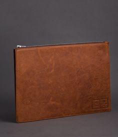 Bovine Document Zipper Pouch