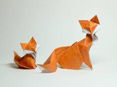 Origami: piccole opere d'arte di carta per le vostre nozze_volpi