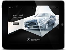 Mercedes iPad app by Maciej Mach, via Behance