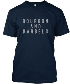 Bourbon And Barbels New Navy T-Shirt Front