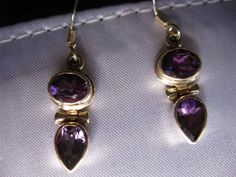 Artisan Handcrafted 4 CTW Purple Amethyst 925 Sterling Silver Dangle Earrings #ArtisanHandcrafted #DropDangle