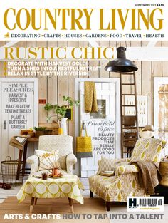 Country Living magazine September 2015 cover countryliving.co.uk