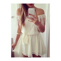 White boat neck long sleeve mini skater dress