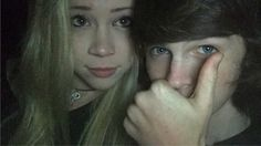 Chandler Riggs with his girlfriend