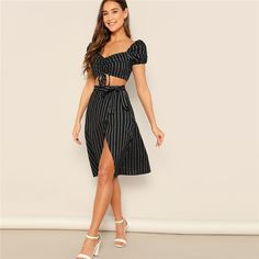 Drawstring Waist Crop Top Wrap Knot Skirt Set – NuTrending  #coords #ootd #fashionista #fashionfriday #instagood #follow #like #photooftheday #beautiful #art #cute #photography #happy #picoftheday #model #me #girl #followme #fridayfashion #pantsuit #fashion #instafashion #fashiongoals #instastyle #easter #menstyle #menswear #menwithclass #menwithstyle #mensfashion