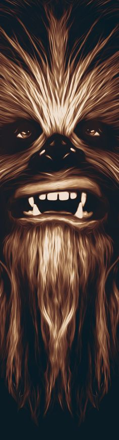 CHEWBACCA - Star Wars I would have a print of this next to my bathroom mirror to remind myself that it could always be worse. Nave Star Wars, Star Wars Art, Star Trek, Chewbacca, Illustrations, Illustration Art, Geeks, Amoled Wallpapers, D Mark