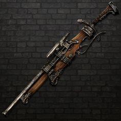 Chester's Claymore Rifle, Cal Santiago on ArtStation at https://www.artstation.com/artwork/l9k4o