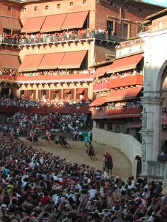 Palio di Siena... My family and I happened to make a day trip to Siena on the day this was happening back in 2006.
