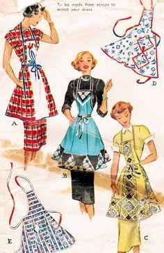 Vintage Geometric Apron Pattern by McCall Vintage Apron Pattern, Retro Apron, Vintage Sewing Patterns, Sewing Aprons, Dress Sewing, Apron Dress, Dress Patterns, Apron Patterns, Coat Patterns