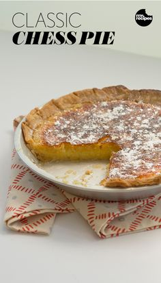 Classic Chess Pie | MyRecipes.com