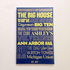 University of Michigan Canvas Art