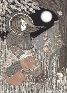 Anita Inverarity   INK on illustration board