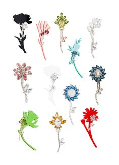 Prada's Flower Brooches from the Fall/Winter 2015-2016 show