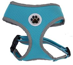 Turquoise Reflective Mesh Soft Dog Harness Safe Harness No Pull Summer Pet Harnesses for Small Dogs,Medium Size Lanyar http://www.amazon.com/dp/B00LIDWBV4/ref=cm_sw_r_pi_dp_Tol2wb12JN24H