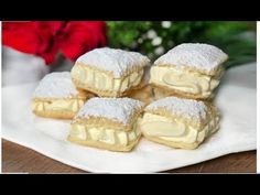 Rýchle a krehučké podušky z lístkového cesta - zmiznú zo stola vždy behom chvíle! - Great Desserts, No Bake Desserts, Delicious Desserts, Sweets Recipes, Cake Recipes, Cooking Recipes, Nutella, A Food, Food And Drink