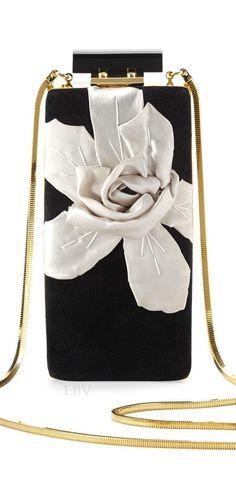 Lanvin Vertical Floral Velvet Minaudiere | LBV ♥✤
