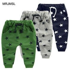 MRJMSL Hot sale children pants for baby boys trousers kids harem pants star fashion grey blue black 2019 Girls Pants Boys Harem Pants, Harem Pants Fashion, Girls Pants, Little Boy Fashion, Baby Boy Fashion, Fashion Kids, 50 Fashion, Fashion 2018, Fashion Styles