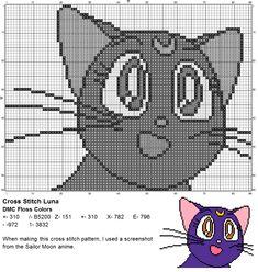 Dork Stitch: cross stitch patterns cross stitch half a point manga, anime , cucire mezza croce