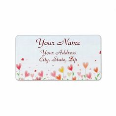 A Field of Hearts Personalized Address Labels Personalized Address Labels, Return Address Labels, Hearts, Names, Writing, Return Address Stickers, Being A Writer
