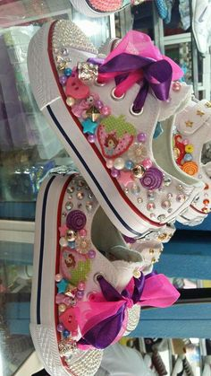 Shoes 💞 - Shoes 💞 Shoes 💞 Shoes 💞 Welcome to our website, We hope you are satisfied with the content - Bedazzled Shoes, Bling Shoes, Baby Girl Shoes, Girls Shoes, Diy Fashion, Fashion Shoes, Shoe Makeover, Bling Converse, Shoe Crafts