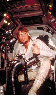Luke Skywalker at the Falcon's gun controls, #StarWars