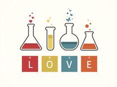 Science of Love Images, Stock Photos & Vectors Chemistry Art, Chemistry Notes, Chemistry Teacher, Science Icons, Science Art, Letras Comic, Science Lab Decorations, Science Of Love, Sleeping Panda