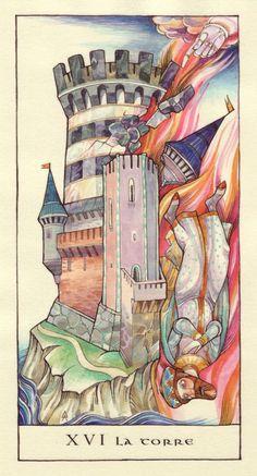 XVI La Torre (tarot card 'the tower')